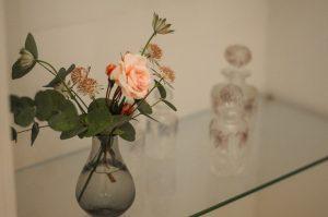 Chambre de Mademoiselle , ambiance salle de bain bouquet de fleur