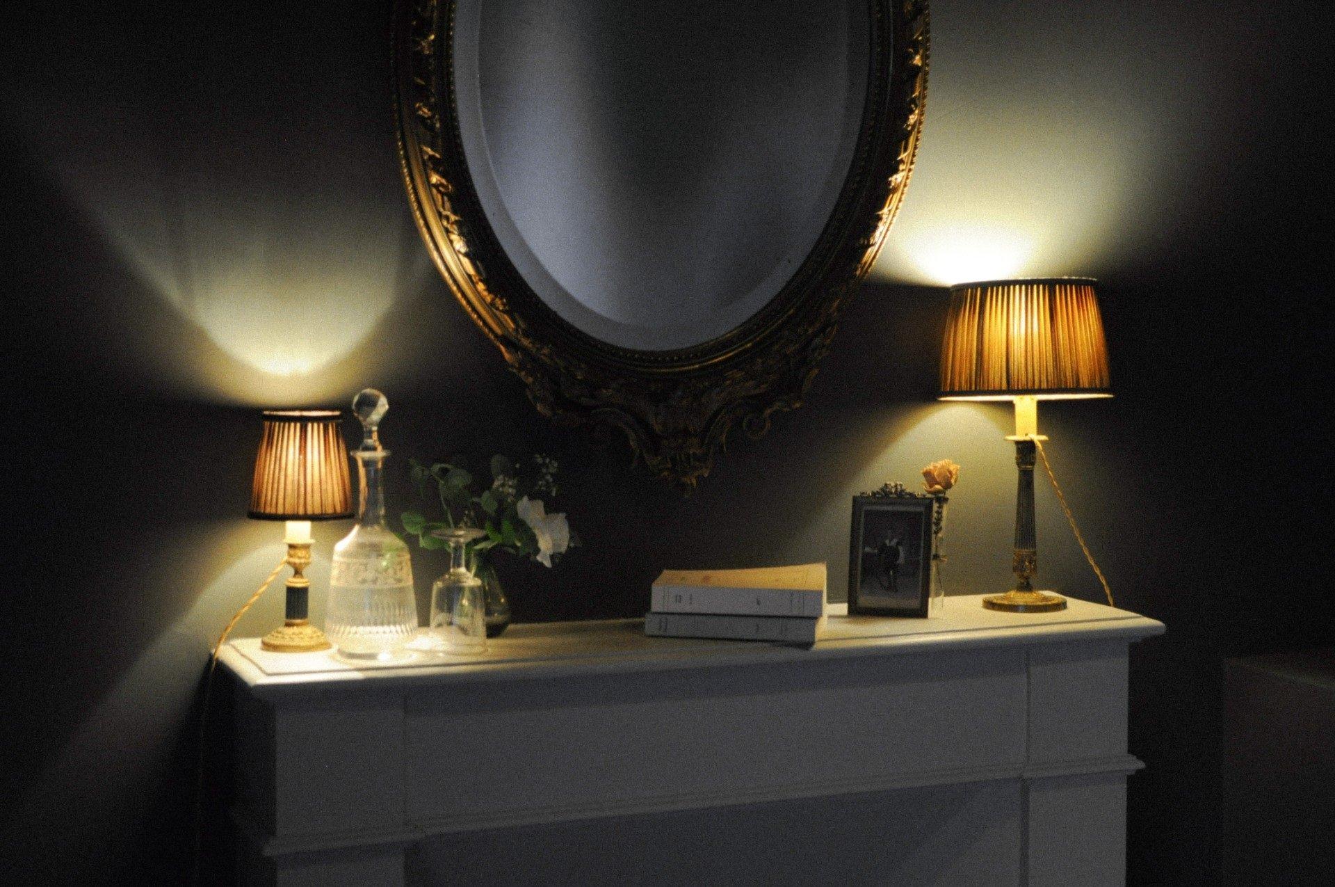 Miroir détail chambre mignonne manoir de la villenuve